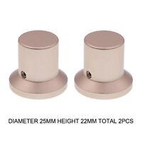 2PCS AUDIO KNOB 25x22mm Aluminum CD Player DAC Amplifier Potentiometer Knob DIY