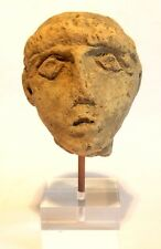 TETE GRECQUE ANTIQUE - 3°S. AVANT JC - ANCIENT GREEK TERRACOTTA HEAD 400 BC