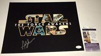 Andy Serkis STAR WARS FORCE AWAKENS Snoke Signed 11X14 Photo PROOF JSA COA