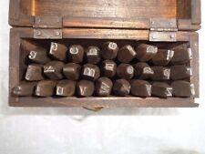 Alte Schlagbuchstaben klein 6mm
