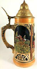 Mug West Germany Beer Vintage Lidded Lid Porcelain Glass German Made European