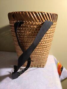 Bamboo Basket Backpack Style- Kawm Hmoob TheHmongMarket Handmade Baskets