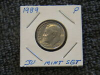 1989-P-10C Roosevelt Dime-No wear-Nice & Shiny! Nice Luster! UNC.Clad! Fine Coin