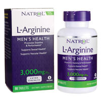 L-Arginine 3000mg 90 Tablets Natrol Expires 2021 Vitamin B-12