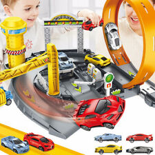 Catapult Parking Lot Garage Playset DIY Racing Track Cars Toys Kids Xmas Gifts