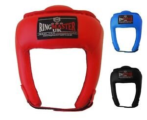 RingMaster AIBA Styled HeadGuard Gear Open Face Kickboxing Martial Adults Kids