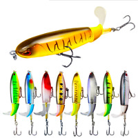 Whopper Plopper Topwater Floating Fishing Lure Rotating Tail Surface Crankbait