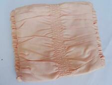 More details for vintage handkerchief case 1930s hanky holder peach padded satin frill detail 30s