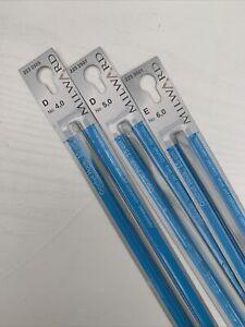 Milward Crochet Hook 4mm 5mm 6mm15cm Aluminium Crafts Needle
