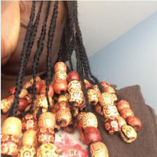 Jewelry Accessories Large Hole Beads Wood Hair Rings Wig Jewelry Hair Braid J