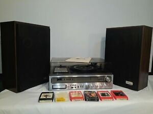 Vintage Zenith Integrated Stereo System Model IS 4041 W/ Allegro Speakers MC2000