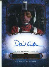Star Wars Masterwork 2016 Canvas Autograph [*/25] David Ankrum