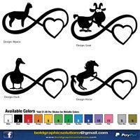 4.5inch Donkey Decal Window Sticker Car Decor Cartoon Ass Jackass Horse Pet Mule