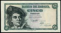 Billete de España 5 pesetas 1948 Juan Sebastian de Elcano 01860077 Sin serie