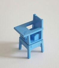 PLAYMOBIL (J245) EPOQUE 1900 - Chaise Haute Bleue pour Bébé Série Rose 5313