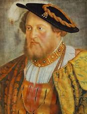 Oil painting barthel beham - portrait of ottheinrich, prince of pfalz on canvas