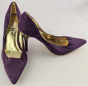 London Rebel Women's Heels Size 7 Hart Style Purple