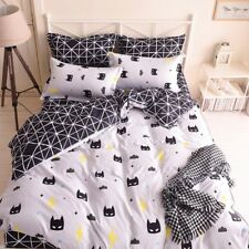 BATMAN CARTOON KIDS Duvet Cover Bedding Set (Pillowcase + Flat Sheet)-FULL/QUEEN