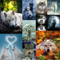 5D DIY Full Drill Diamond Painting Wolf Cross Stitch Embroidery Mosaic Kit #JT1