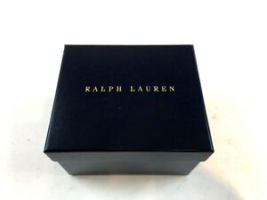 "Ralph Lauren Gift Box 6 1/2"" X 5 1/2"" X 4 1/2"" Royal Blue with tissue"
