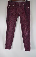Free People Skinny Pants Corduroy Floral Women's  W 25 Casual Low Rise