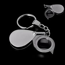 Folding Pocket 8X Magnifier Loupe Magnifying Glass Lens With Keychain Portable