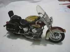 A Franklin mint scale model of a Harley Davidson classic, boxed