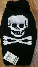 *New* Chilly Dog Black Skull, 100% wool dog Sweater ,XS