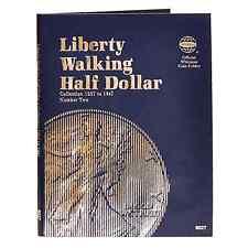 Whitman Coin Folder #9027 Liberty Walking Half Dollars #2 1937-1947