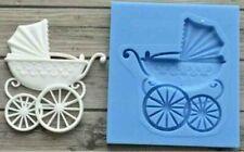 Silicone Fondant Mold Sugarcraft Baby Carriage Mould Cake Decorating Baking Tool