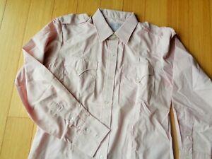 NEW Vintage H Bar C Mens 16 (L) Ranchwear Western Button SHIRT~Shoulder Straps