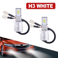 H3 CREE LED Fog Light Bulbs Conversion Kit Super Bright DRL 6000K White 8000LM