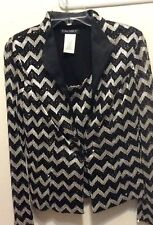 CACHET Woman Sz 8 Cocktail Jacket Sequin Shimmering Embroidered Chevron 2-Piece