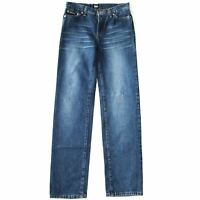 NEW WOMEN'S D&G BLUE FADED DENIM JEANS STRAIGHT LEG ITALY W28 29 31 L33 RRP £70