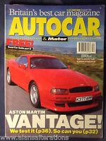 AUTOCAR & MOTOR Magazine 25/8/93 Aston Martin Vantage