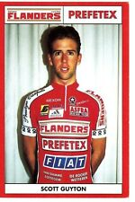 CYCLISME carte  cycliste SCOTT GUYTON équipe fieften FLANDERS PREFETEX