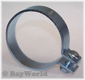1x 100,5mm DIN Schelle Stahl verzinkt 3.95Zoll Auspuffklemme Rohrschelle PKW LKW