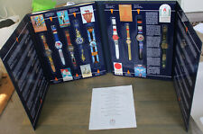 Vintage 1996 Swatch Watch Historical Olympic Games Collection 9 Wristwatch Set