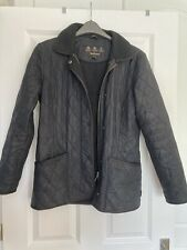 Ladies Black Barbour Quilted Jacket Size 8