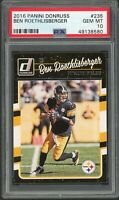 Ben Roethlisberger Steelers 2016 Panini Donruss Football Card #235 Graded PSA 10