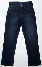 NYDJ Jeans Not Your Daughter's Jeans Dark Blue Straight Leg Women Size US 2 EC