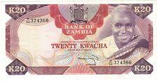 Zambia scarce 20 kwacha 1974 aXF P18