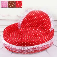 New Pet Dog Lace Sofa Cushion Pad Polka Dot Kitten Puppy Mat Cat Soft Plush Bed