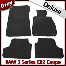 BMW 3 Series Coupe E92 2006-2013 2-Eyelets Tailored LUXURY 1300g Car Mats GREY