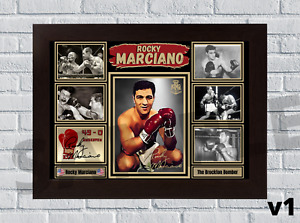 Rocky Marciano Heavyweight legend A4/A3 Boxing memorabilia signed (#160)