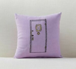 """Pottery Barn FRIENDS Apartment Door PILLOW 25th Anniversary 12"""" Square NWT"""