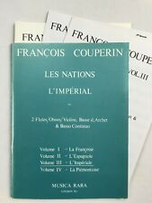 Noten. Couperin. Les Nations -  L' Imperial. Vol. III. Part. und Stimmen.