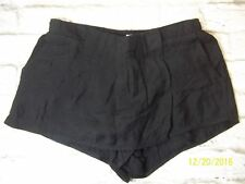 Silence Noise Womens XS Black Urban Outfitter Pleated Skorts Casual Shorts 2217C