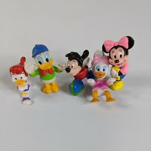 Vintage Disney Small Figure Lot of 5 Happy Meal Donald Minnie mouse Cake Toppers