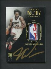 2015-16 Panini Noir Justise Winslow RPA RC Rookie NBA LOGOMAN Tag Patch AUTO 1/5